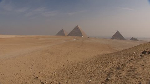 Egypt panorama pyramid with high resolution. Pyramids of ancient Egypt. Sand pyramid. Panorama pyramids. Horizontal pyramid. Egyptian pyramid. Pyramids in the desert near the road. Cairo.