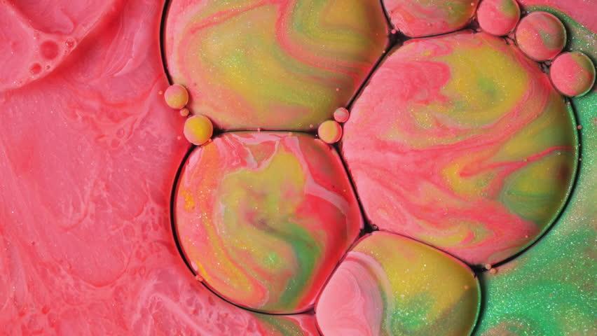 Vibrant Wallpaper Colorful Bubbles Moving Liquid Color