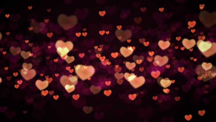 Bokeh Heart Shape Of Light Background Stock Footage Video: Heart Neon Lights. Stock Footage Video 2174126
