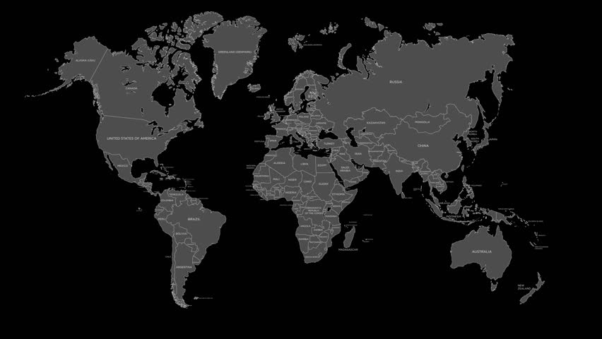 World map with color social network people icon stock footage shine light world map alpha channel hd stock footage clip gumiabroncs Images