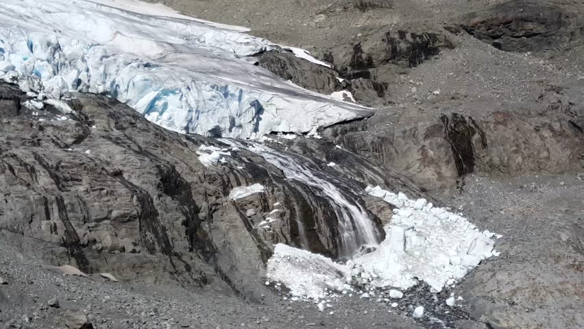 Melting glacier at Jotunheimen National Park Norway