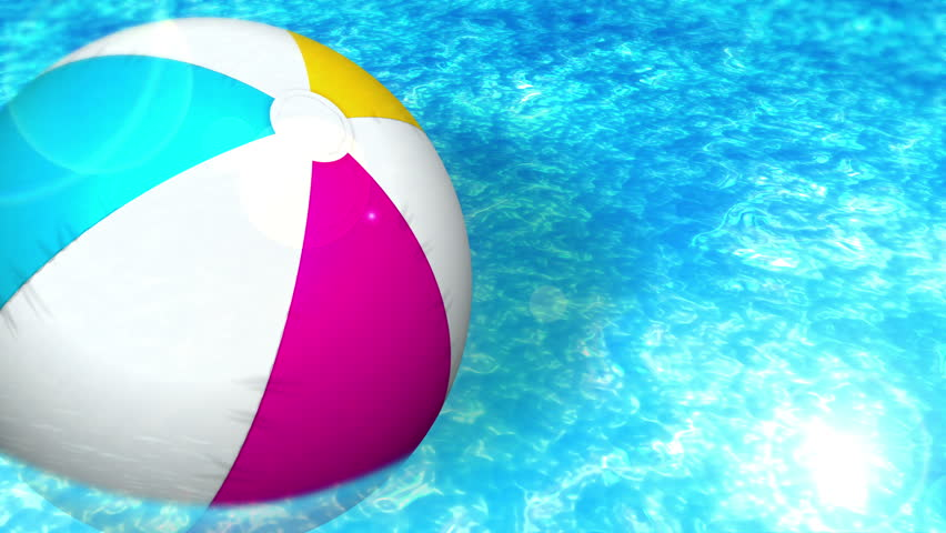 Swimming Pool Beach Ball Background pool ball stock footage video | shutterstock