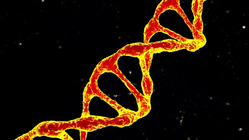 DNA gold 3d animation