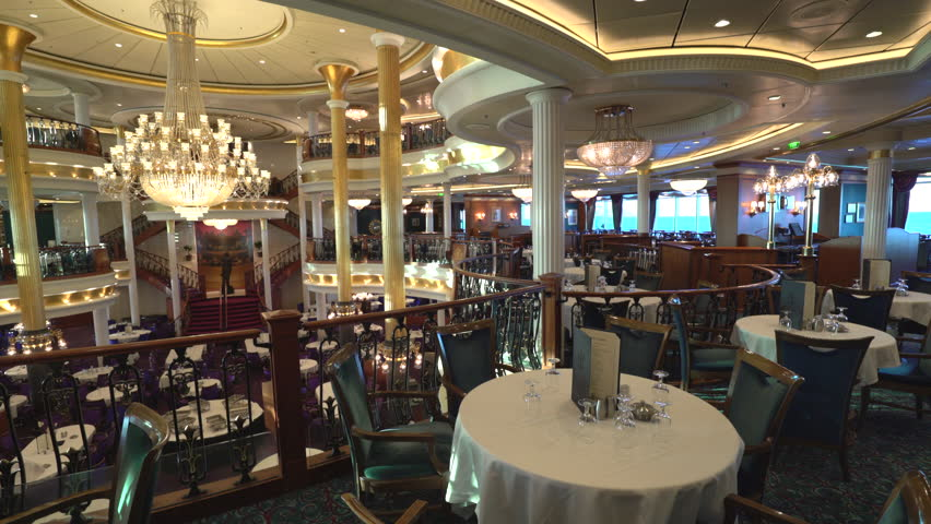 Beautiful And Elegant Fine Dining Restaurant Cruise Ship Room