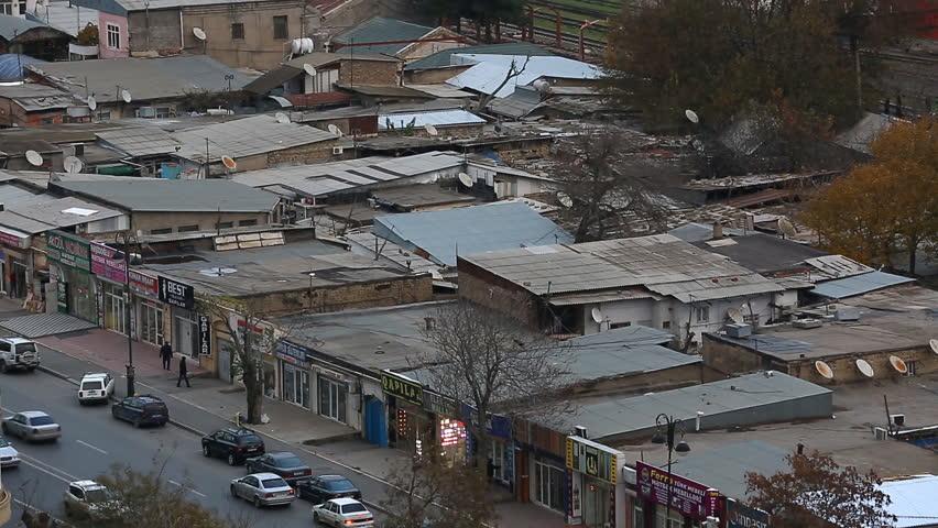 Roofs of houses in the fog Baku, Azerbaijan | Shutterstock HD Video #23488702