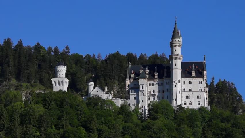 Neuschwanstein Castle Schwangau Near Fuessen Swabia Bavaria Germany 17 June 2013