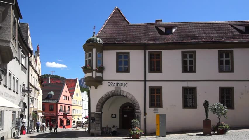 Old Town Of Fussen Bavaria Germany 15 June 2013