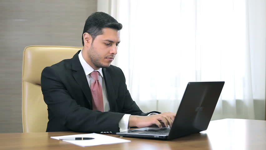 Man Working On the Laptop Stock Footage Video (100% ...