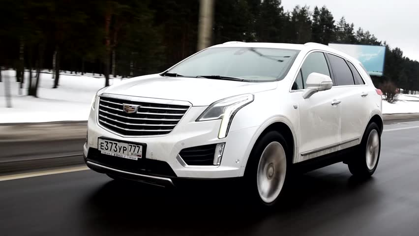 MOSCOW, RUSSIA - JANUARY 18, 2017: Cadillac XT5 at the test-drive.