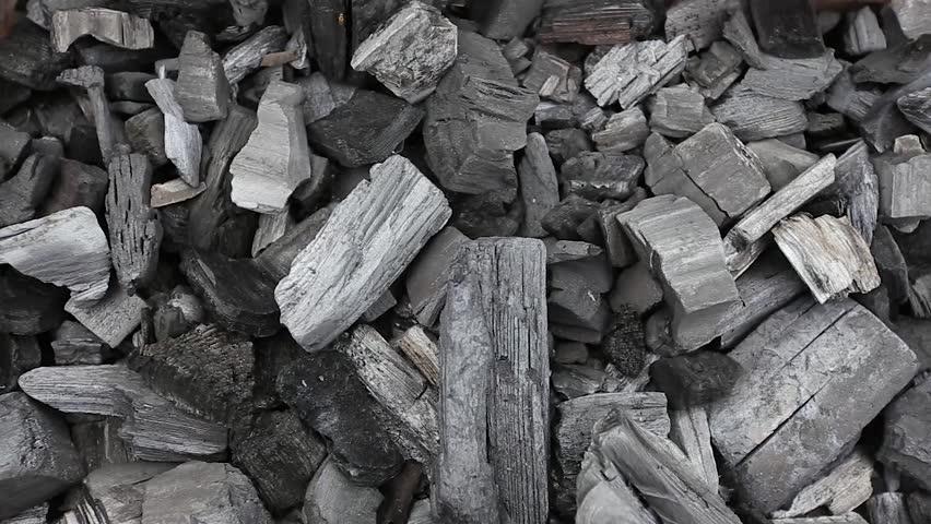 coals in a barbecue grill HD #23556913