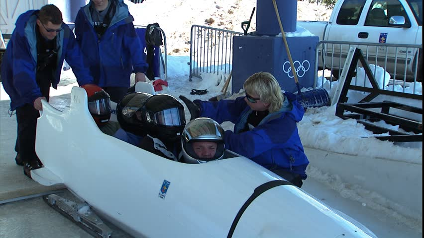 PARK CITY, UT - CIRCA 2004: Olympic Park bob sled start.