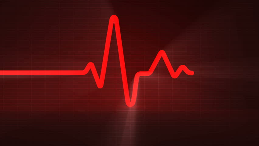 Colorful human heart normal sinus rhythm, electrocardiogram record. Bright and bold design for use in presentations, education manuals, design, etc