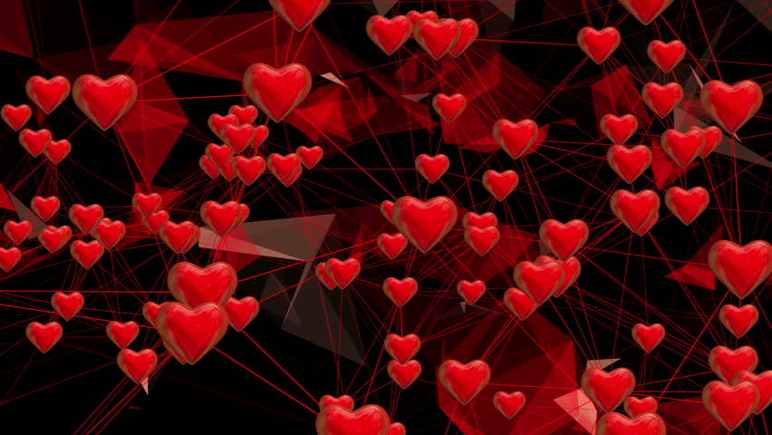 Red Hearts, Abstract Background, Valentine Theme, Love ...