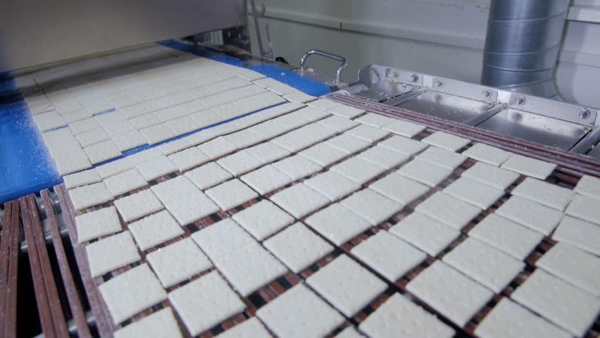 Cookies conveyor working. Food industry. | Shutterstock HD Video #23660515