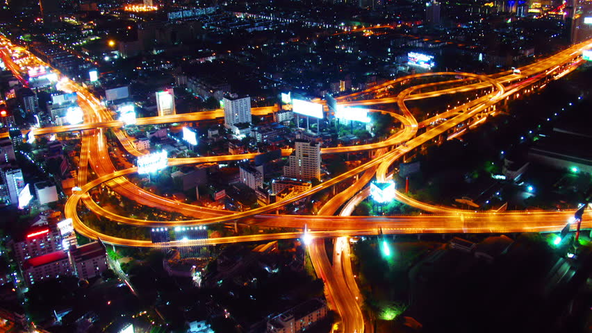 Bangkok at night. Timelapse | Shutterstock HD Video #2366525