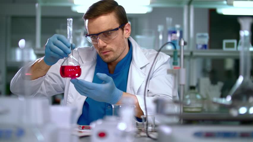 Scientist in Lab Scientist Looking Stock Footage Video