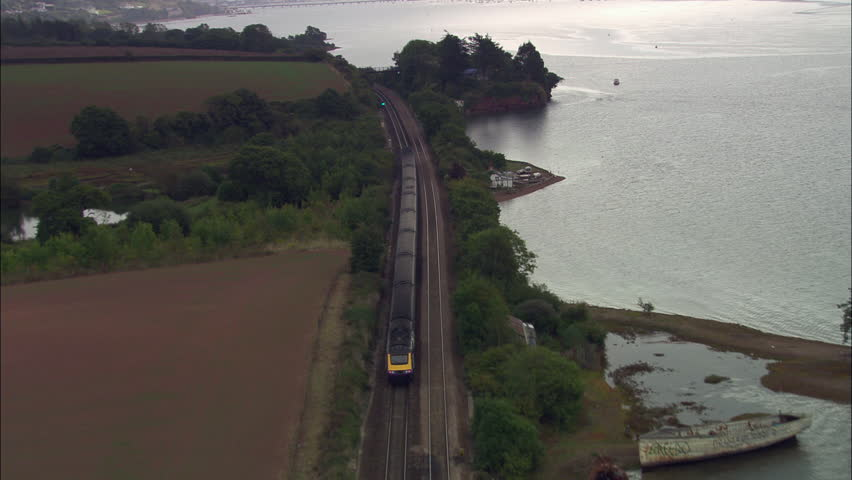 Express Train Approaching Teignmouth