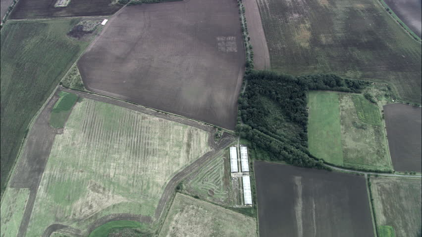 Lincolnshire Wolds Directly Down And Circling | Shutterstock HD Video #23702785