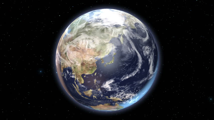 Beginning With A Spinning Earth In Space, Then Zooming Out To ...
