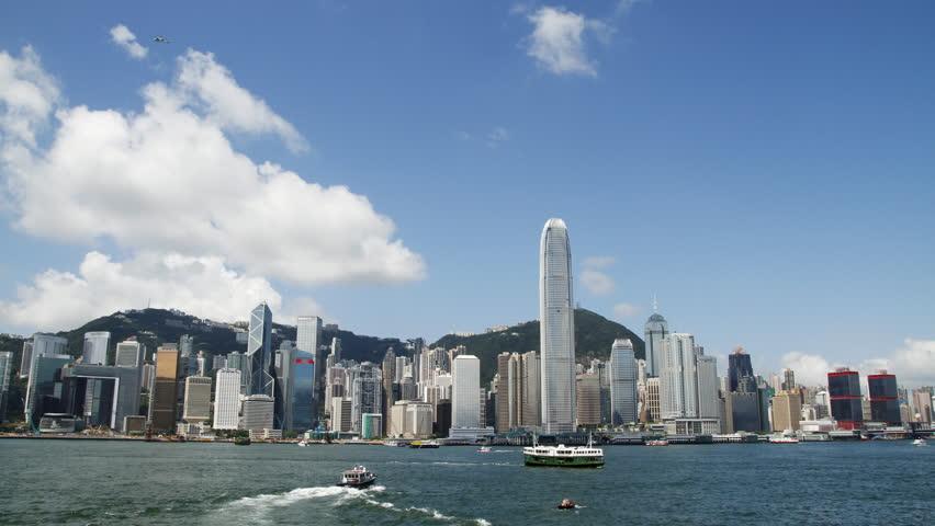 HongKong Skyline and victoria habour