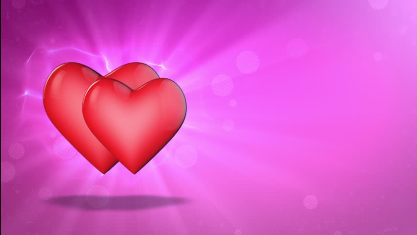 happy valentines day video greetings to valentines day romantic movement of the two lovers hearts 3d animation stock footage video 23747845 - Valentines Day Videos