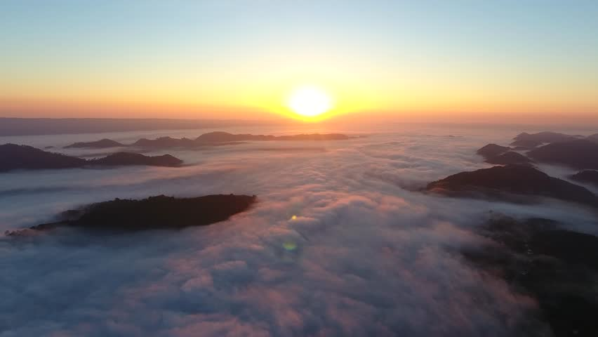 Aerial view of the fog | Shutterstock HD Video #23773165