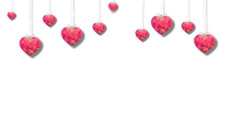 Valentine Day Heart White Background 7
