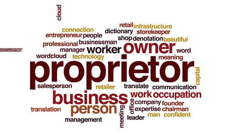 Header of proprietor