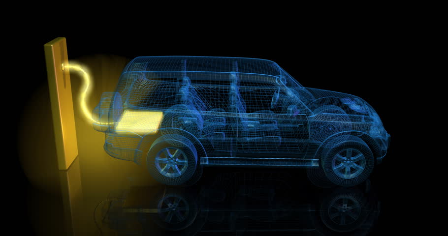 Car blueprint sketch loop alpha stock footage video 870700 3d animation of blue electric car van charging from large glowing battery 4k malvernweather Image collections