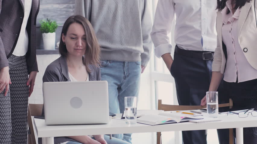 Startup diversity teamwork brainstorming meeting concept. Success and happiness. Business young multiethnic team working and planning Start Up in modern office. | Shutterstock HD Video #23932420