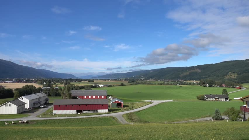 Norwegian Countryside 3 - HD stock footage clip