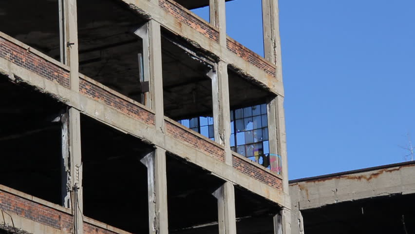 Abandoned factory ruins on a sunny afternoon on November 21, 2011.