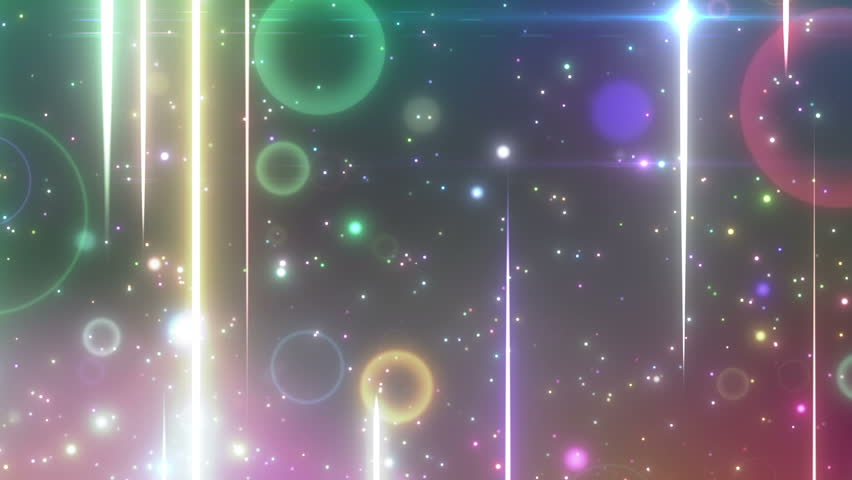 shiny lines and sparkling graphic particles