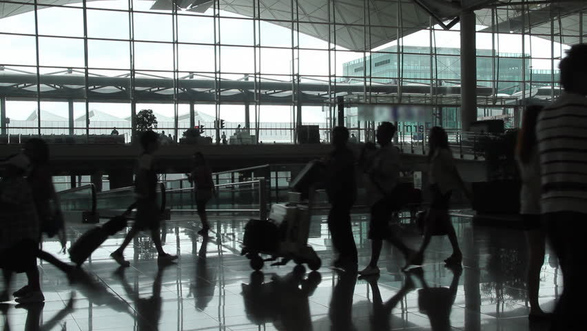 Airport passenger - Hong Kong International Airport. | Shutterstock HD Video #2405375