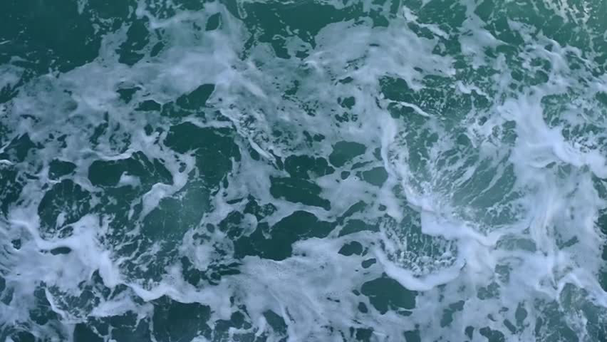Aerial view footage of ocean waves crashing. | Shutterstock HD Video #24066697
