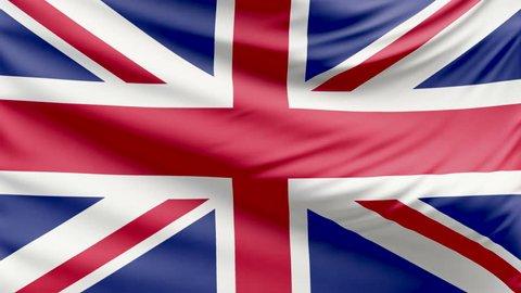 Realistic beautiful United Kingdom flag 4k