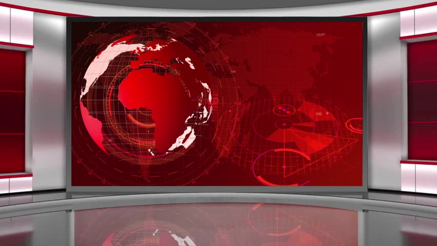 News- Broadcast TV Studio Green Screen Background