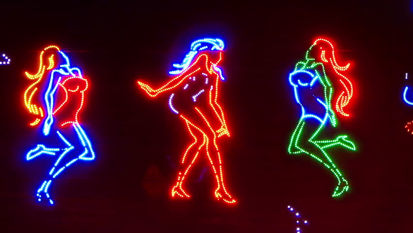 Dancing girls neon sign