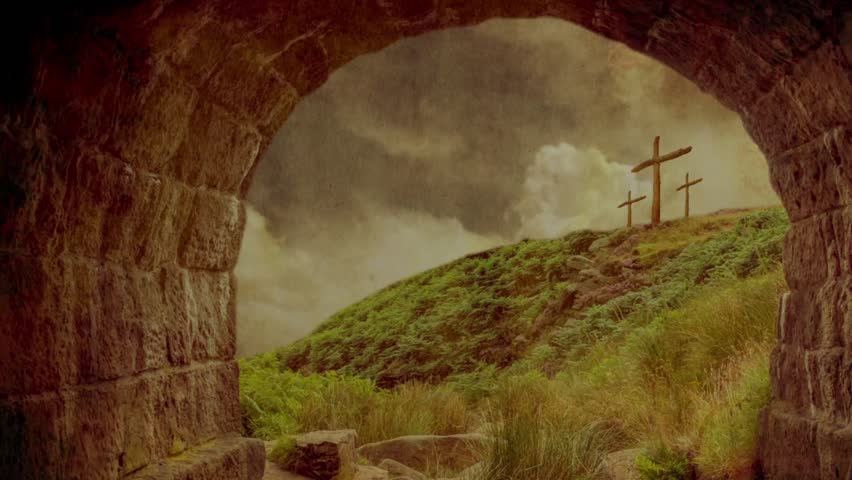 Vintage Easter Resurrection Open Tomb Stock Footage Video