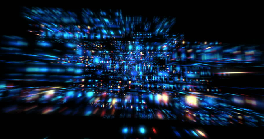 3D Futuristic Abstract Background. Motion Graphic For