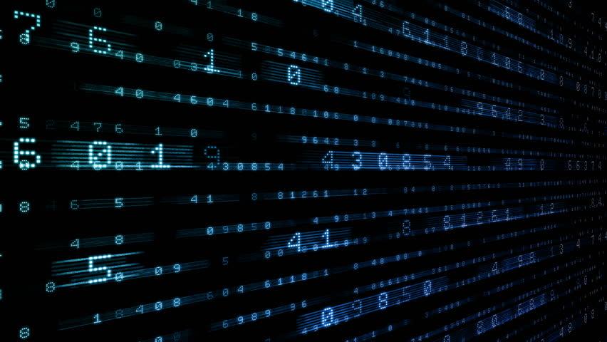 Digital world data space number text. | Shutterstock HD Video #24202465