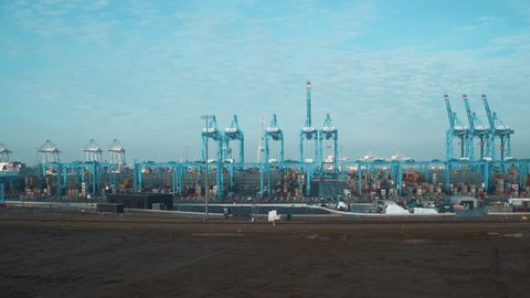 Aerial view Europoort, Maasvlakte, Rotterdam.