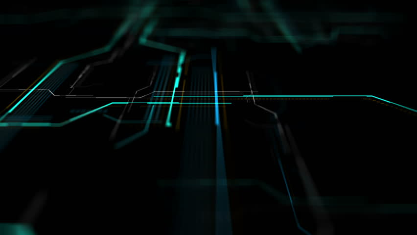 Abstract digital background made of different shapes with hight detailed elements. Rich details and depth of field effect. Geometry lines with dashes and glow. 3d rendering. | Shutterstock HD Video #24251288