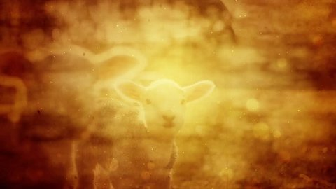 Vintage Religious Easter Background Featuring A Lamb.
