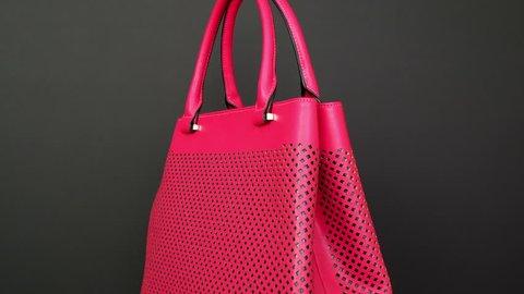 ad31d73f2ac0 Handbag on black background. Concept for website ladies  accessories - no  logo