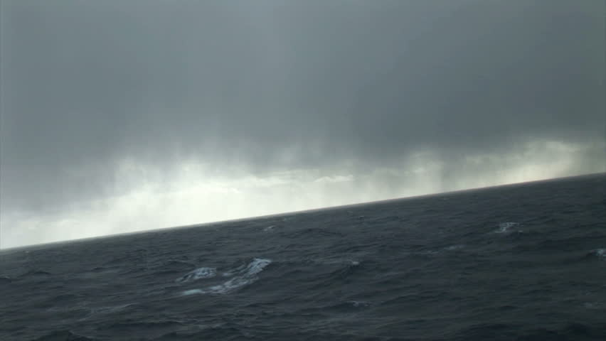 South Georgia: storm in a sea from expedition ship