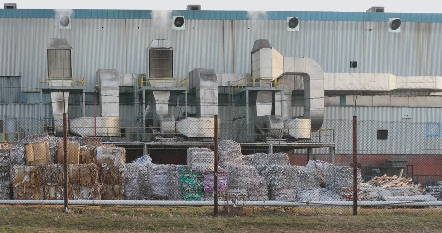 Big Factory For Recycling Paper and Carboard | Shutterstock HD Video #24372515