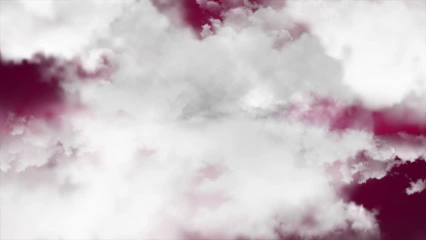 Flying through clouds. 3D rendering. Seamless loop | Shutterstock HD Video #24388445