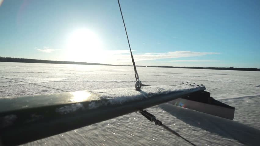 The Skate of Iceboat Rides Stock Footage Video (100% Royalty-free) 24610235  | Shutterstock