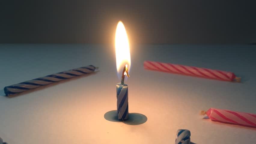 Time-lapse ,  Burning candle.
